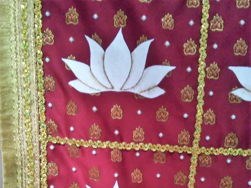 Close-up of Lotus Costume